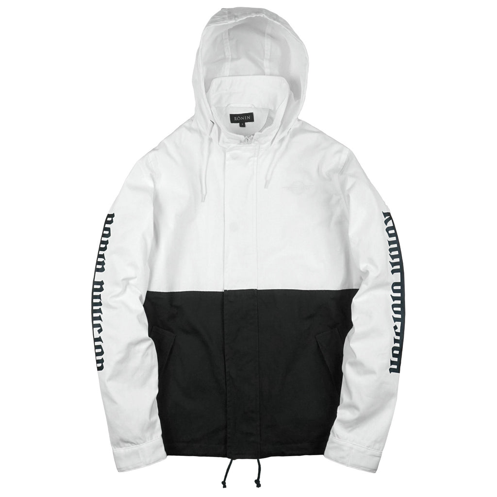 Split Tone Parka - White | Black