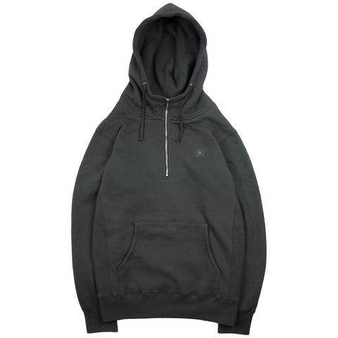 Quarter Zip Tonal Flag Pullover - Charcoal