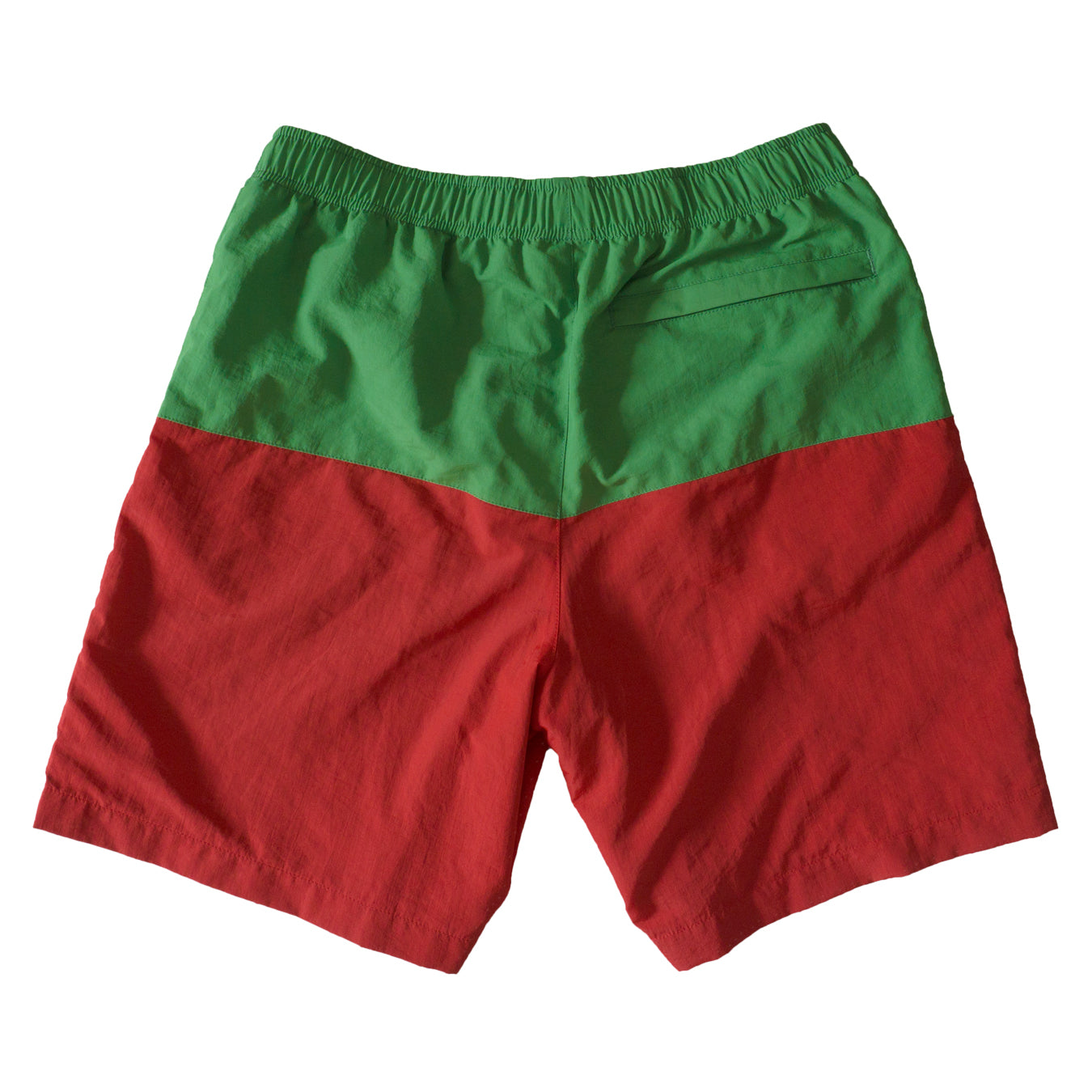 Split Water Shorts - Green/Red