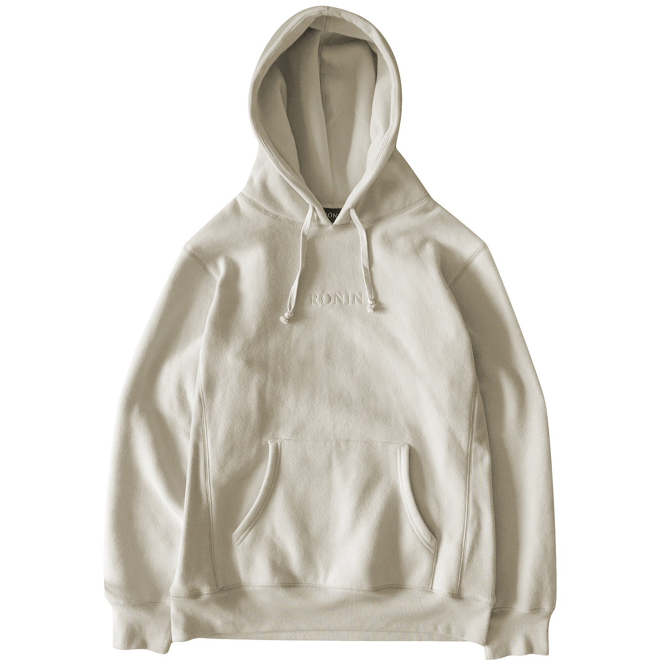 Tonal Embroidered Hoodie - Sand
