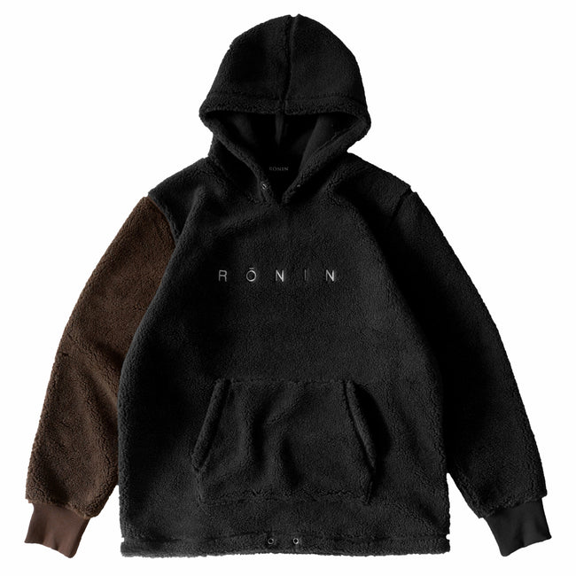 Logo Sherpa Pullover - Black/Brown