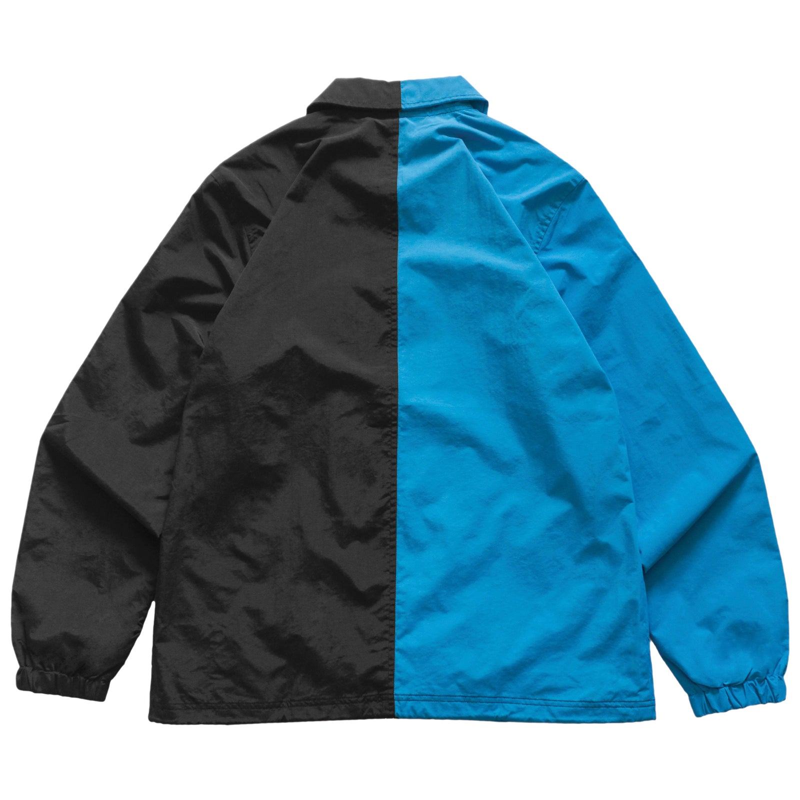 Split Logo Coach Jacket- Aqua/Black
