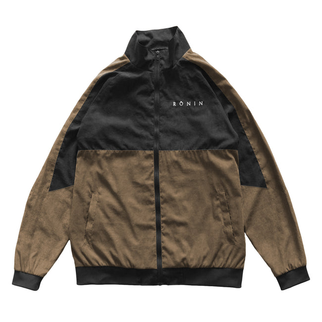 Viscose Logo Jacket - Black/Walnut