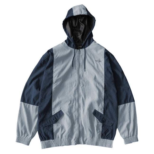 Viscose Panelled Jacket - Ice/Navy