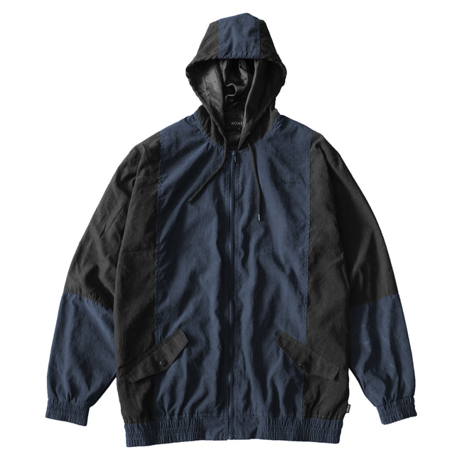 Viscose Panelled Jacket - Navy/Black