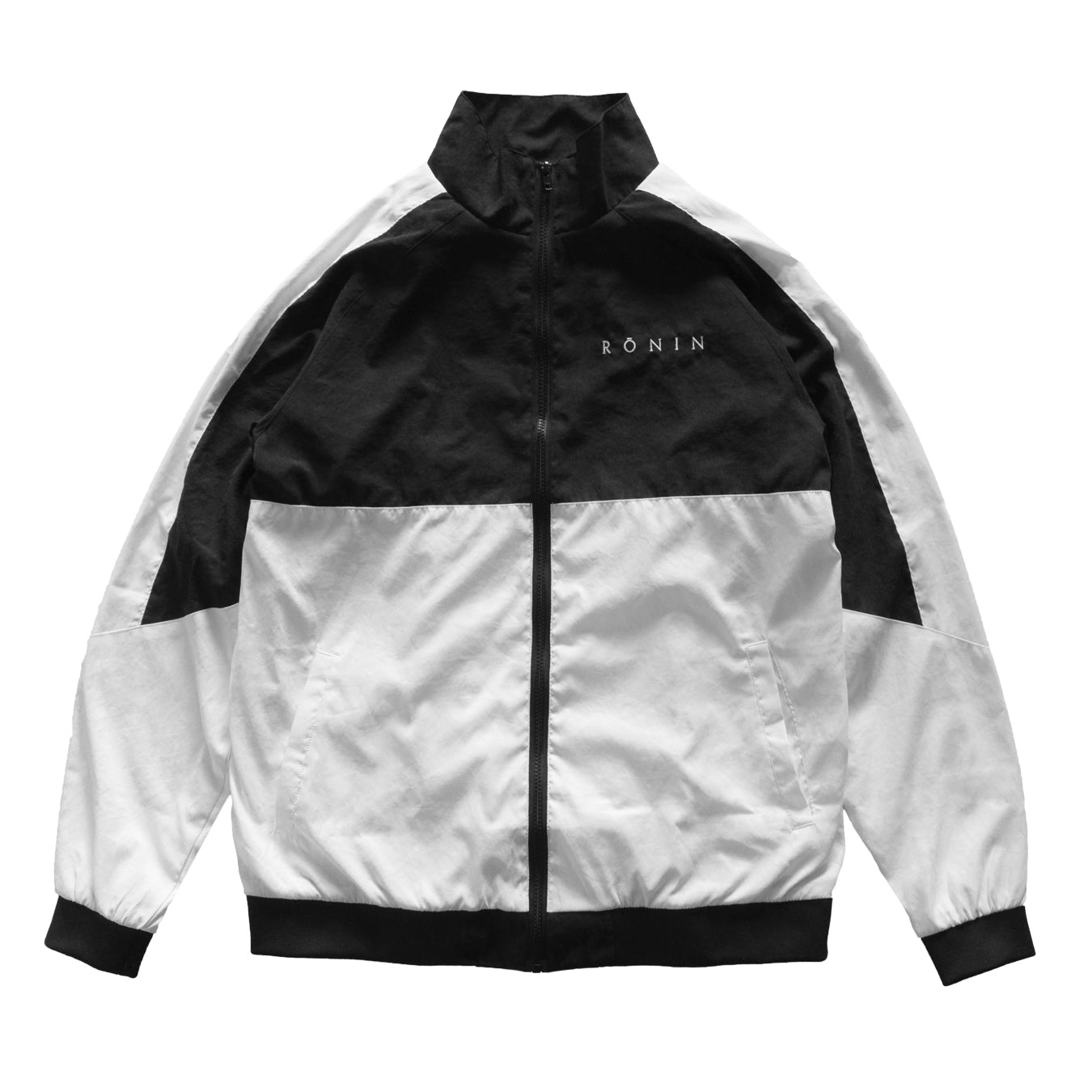 Viscose Logo Jacket - Black/White