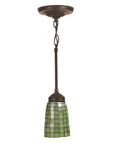 "Meyda Lighting 102091 5""W Terra Verde Mini Pendant"