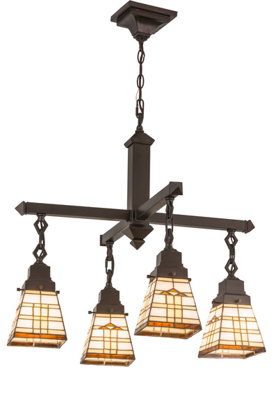 "Meyda Lighting 103043 26""W Arrowhead Mission 4 LT Chandelier"