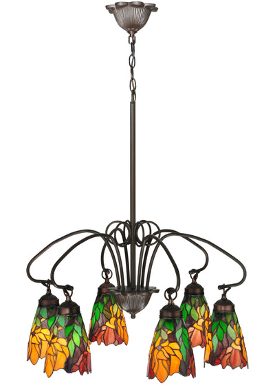 "Meyda Lighting 104887 26"" Wide Iris 6 Light Chandelier"