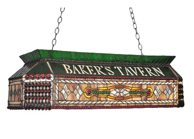 "Meyda Lighting 104942 40""L Personalized Baker's Tavern Oblong Pendant"