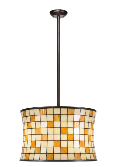 "Meyda Lighting 113440 20""W Hilton Barrel Pendant"