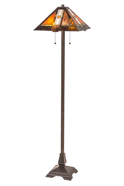 "Meyda Lighting 118710 61""H Montana Mission Floor Lamp"
