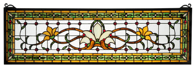 "Meyda Lighting 119444 33""W X 10""H Fairytale Transom Stained Glass Window"