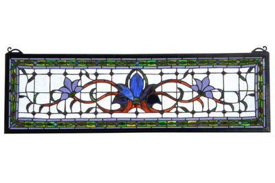 "Meyda Lighting 119445 33""W X 10""H Fairytale Transom Stained Glass Window"