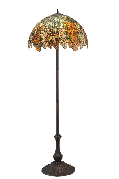 "Meyda Lighting 120518 63""H Tiffany Laburnum Jadestone Floor Lamp"