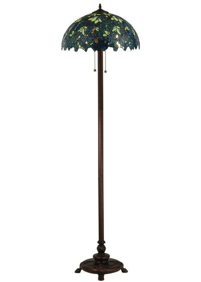 "Meyda Lighting 124814 63""H Nightfall Wisteria Floor Lamp"