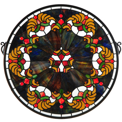 "Meyda Lighting 127106 18""W X 18""H Middleton Stained Glass Window"