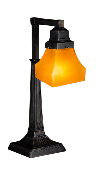 "Meyda Lighting 130167 20""H Bungalow Frosted Amber Desk Lamp"