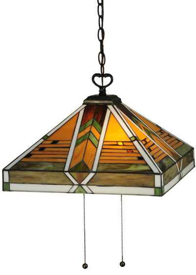 "Meyda Lighting 130750 17""Sq Abilene Pendant"