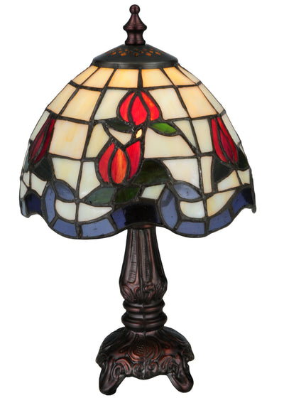 "Meyda Lighting 132663 12""H Roseborder Mini Lamp"