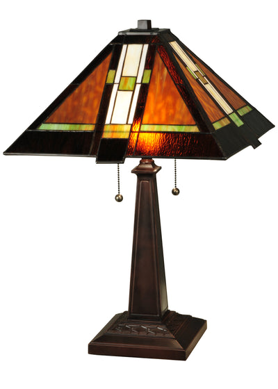 "Meyda Lighting 132673 24""H Montana Mission Table Lamp"