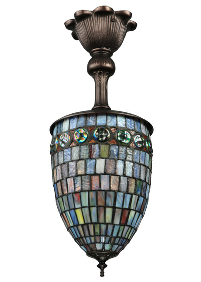 "Meyda Lighting 137229 8""W Turtleback Pendant"