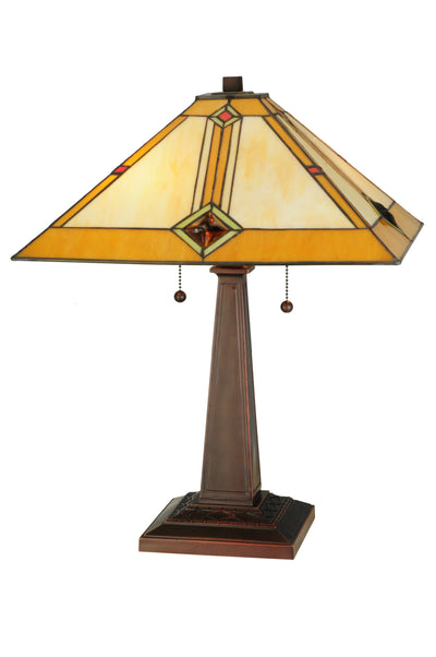"Meyda Lighting 138110 22""H Diamond Mission Table Lamp"