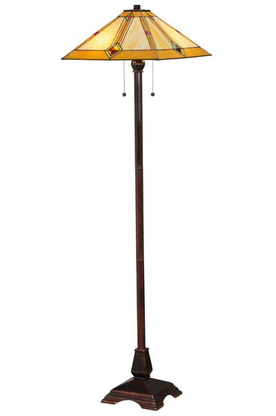 "Meyda Lighting 138112 62""H Diamond Mission Floor Lamp"