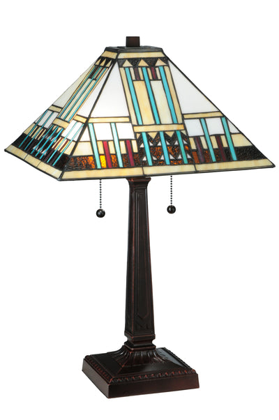 "Meyda Lighting 138119 23""H Prairie Peaks Table Lamp"