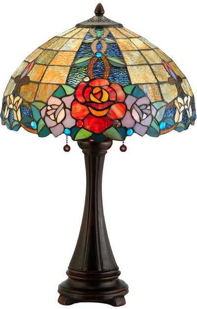 "Meyda Lighting 138121 25""H Rose Vine Table Lamp"