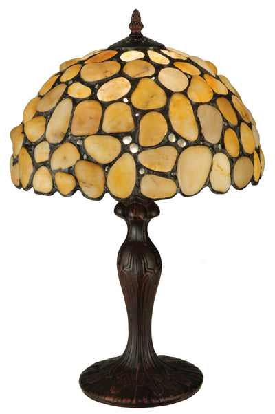 "Meyda Lighting 138123 19.5""H Agata Yellow Table Lamp"