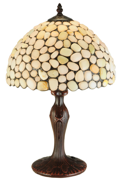 "Meyda Lighting 138124 19""H Agata Opal Table Lamp"