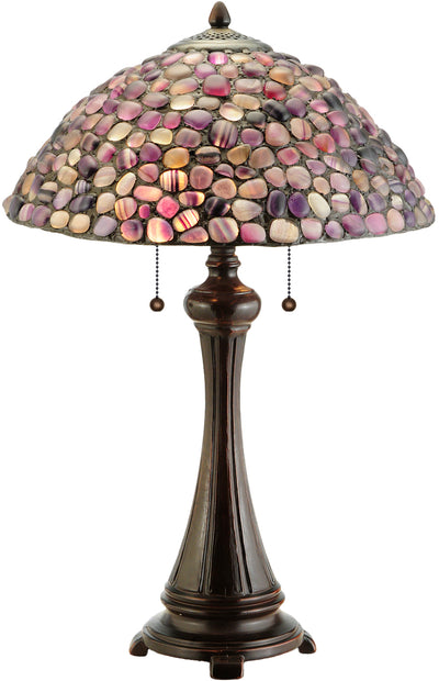 "Meyda Lighting 138125 25""H Agata Purple Table Lamp"