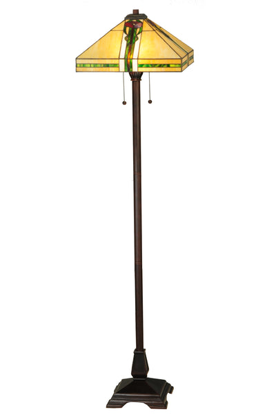 "Meyda Lighting 138127 62""H Parker Poppy Floor Lamp"