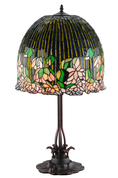 "Meyda Lighting 138581 32""H Tiffany Flowering Lotus Table Lamp"