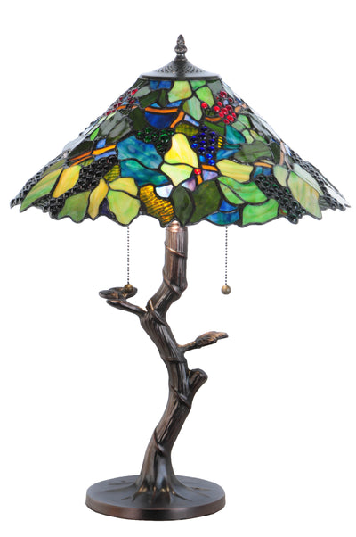 "Meyda Lighting 138583 25""H Grape Harvest Table Lamp"