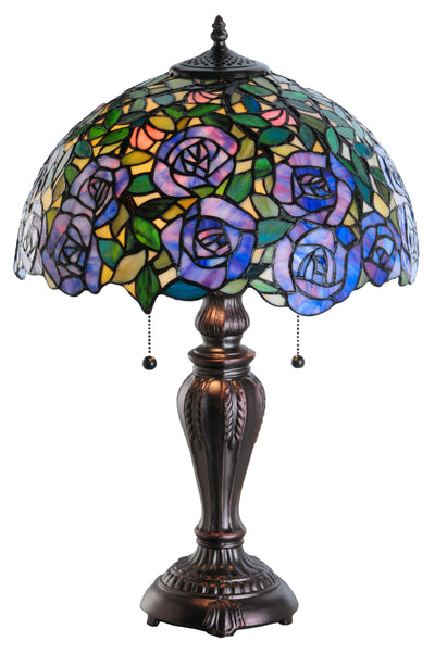 "Meyda Lighting 138584 24""H Rosebush Table Lamp"