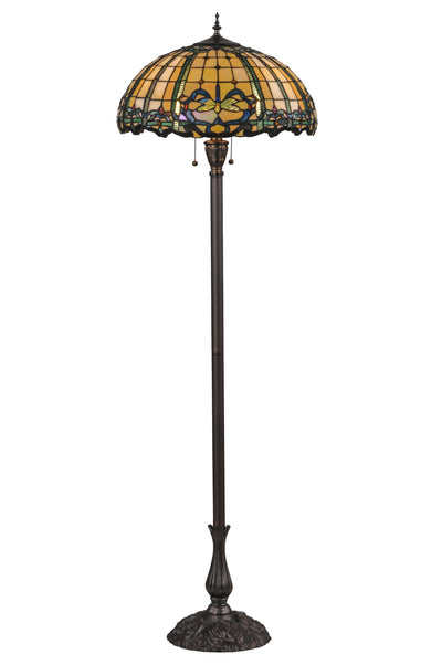 "Meyda Lighting 138587 63""H Dragonfly Trellis Floor Lamp"