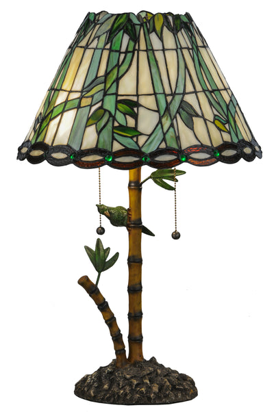 "Meyda Lighting 138588 24""H Loro Paraiso Table Lamp"