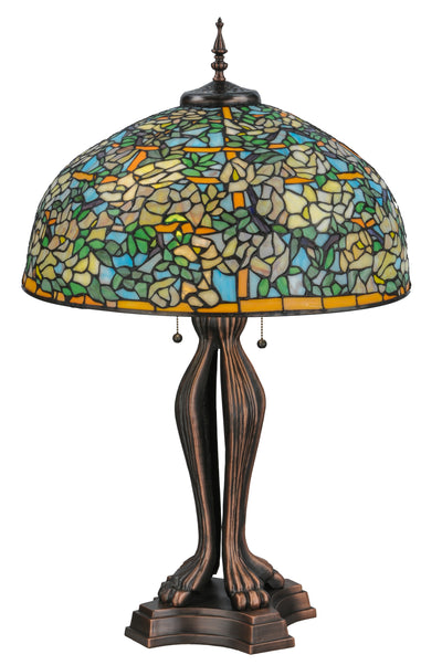 "Meyda Lighting 139419 36""H Tiffany Laburnum Trellis Table Lamp"