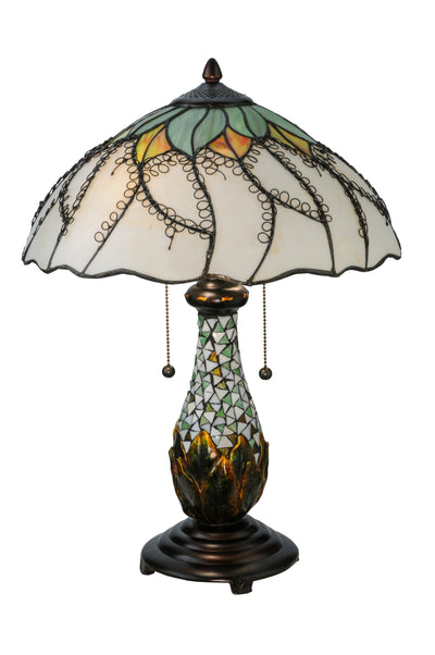 "Meyda Lighting 139604 22.5""H Videira Florale Table Lamp"