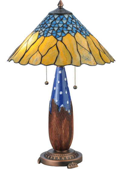 "Meyda Lighting 139610 24.5""H Cristal Azul Table Lamp"