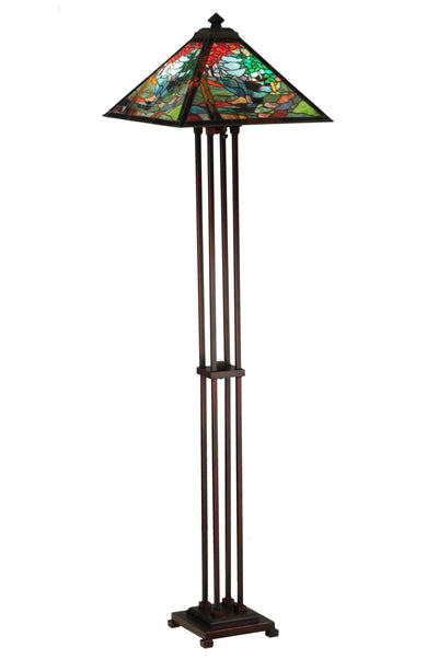 "Meyda Lighting 140031 63.75""H Tiffany River of Life Floor Lamp"