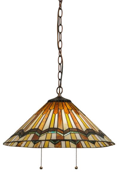 "Meyda Lighting 143461 18""W Prairie Delta Pendant"