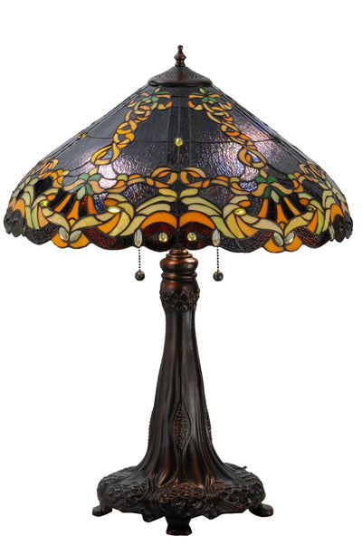 "Meyda Lighting 143754 27""H Baroque Vine Table Lamp"