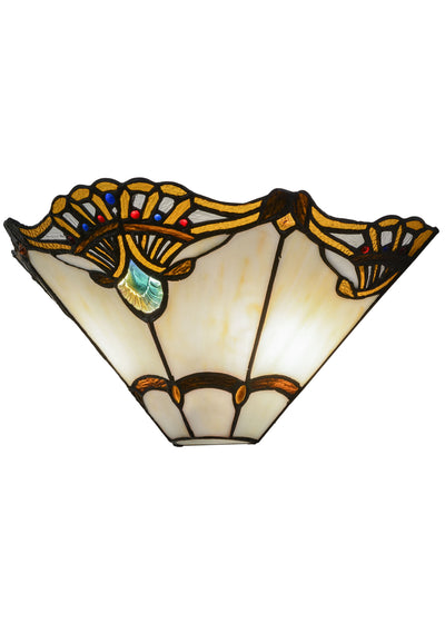"Meyda Lighting 144020 14.5""W Shell with Jewels Wall Sconce"