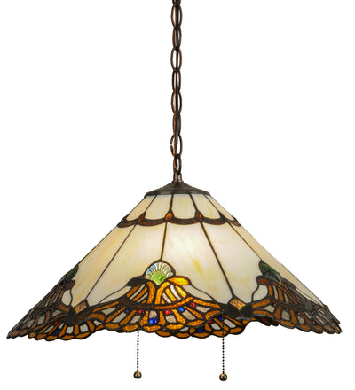 "Meyda Lighting 144059 20""W Shell with Jewels Pendant"