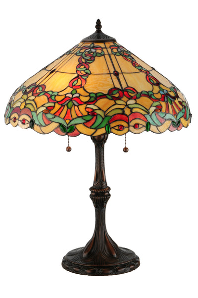 "Meyda Lighting 144336 25""H Baroque Vine Table Lamp"