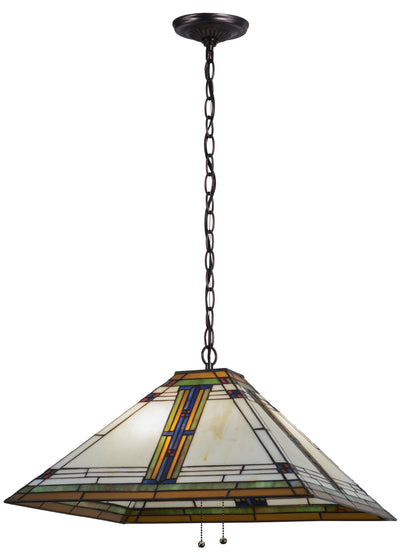 "Meyda Lighting 144965 20""Sq Nevada Pendant"