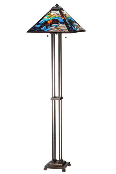 "Meyda Lighting 145045 62.5""H Grizzly Bear Floor Lamp"